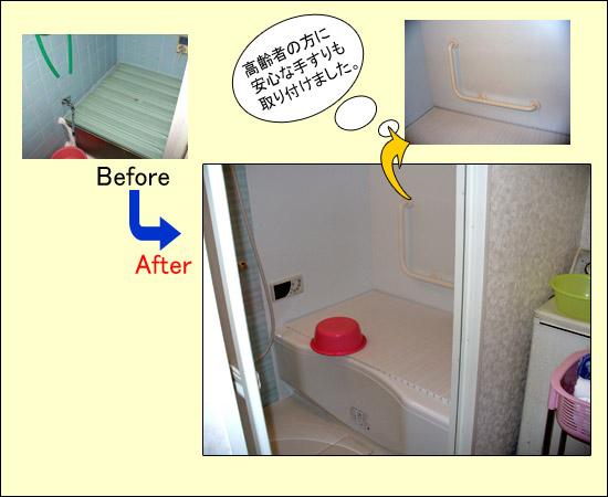 リアルの浴室バリアフリー工事例